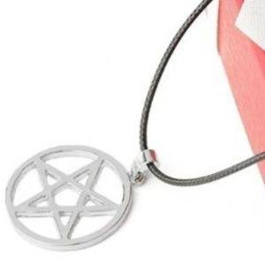 NEW Backwards Pentagram Star Pendant Necklace